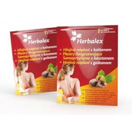 Herbalex Plastry rozgrzewające z kasztanem samoprzylepne (15h)